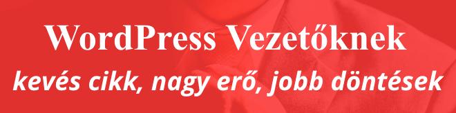 WordPress Vezetőknek - kevés cikk, nagy erő, jobb döntések